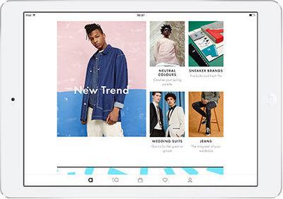 La app de ASOS para iPad