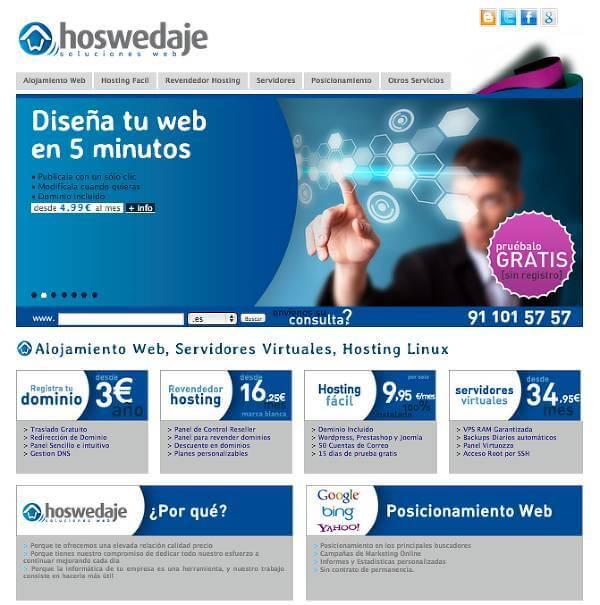 El hosting del equipo de Hoswedaje
