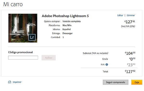 El canje de un cupón descuento en Adobe