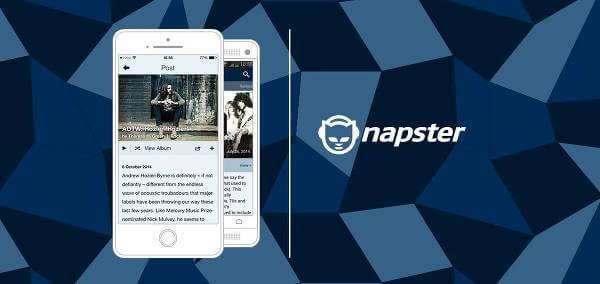 El portal web de Napster