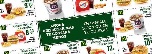 El canje de un cupón descuento en McDonald's