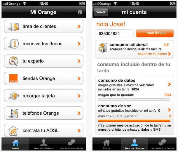 La «App mi Orange»