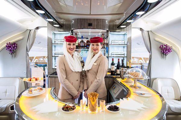 El minibar en Emirates