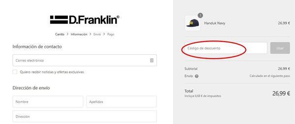 Cómo canjear cupones descuento en D.Franklin