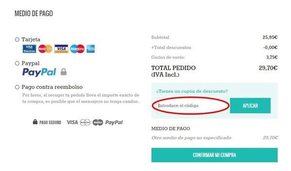 El canje un cupón descuento en percentil.com