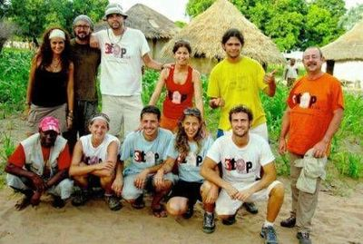 El equipo en la campaña solidaria Africa Stop Malaria