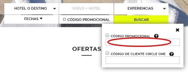 Activa al casilla para copiar el código promocional