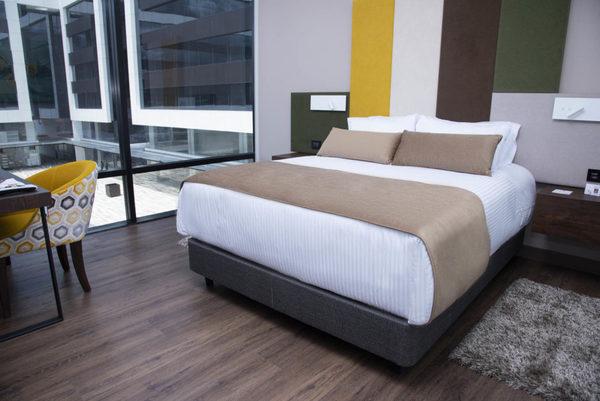 Una de las habitaciones de los hoteles