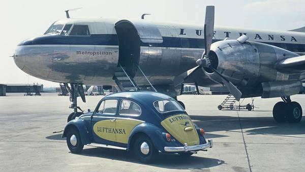 Una de las aeronaves en 1957
