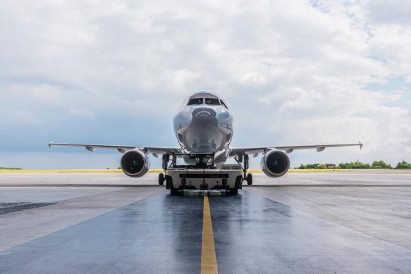 Una de las aeronaves de la empresa